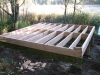 Building the Observation Blind on the McDowell Marsh Environmental Education Trail. Construction began October 2010