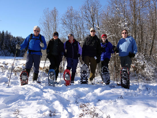Winter Retreat Friends Snowshoe Adventure 1/12/2013